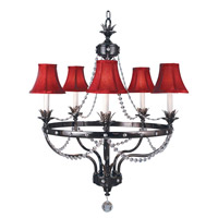 HA Framburg Isolde 5 Light Dining Chandeliers in Ebony 2065EBONY