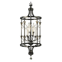 HA Framburg Princessa 9 Light Foyer Chandelier in Ebony 2069EBONY