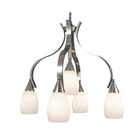 HA Framburg Artemis 5 Light Dinette Chandeliers in Platinum 2070PL