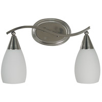 HA Framburg Solstice 2 Light Bath Light in Brushed Nickel 2077BN