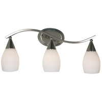 HA Framburg Artemis 3 Light Bath and Sconces in Platinum 2078PL