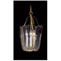 Yorkshire 3 Light 11 inch Polished Brass Foyer Chandelier Ceiling Light in Without Shade