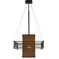 HA Framburg Gymnopedie 1 Light Chandelier in Mahogany Bronze w/ Chocolate Shade 2126MB/CH