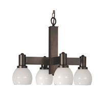 HA Framburg Moderne 4 Light Chandelier in Siena Bronze 2144SBR photo thumbnail
