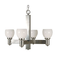 HA Framburg Moderne 4 Light Chandelier in Polished Silver 2148PS