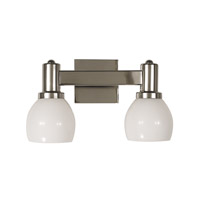 HA Framburg Moderne 2 Light Bath Light in Polished Silver 2152PS