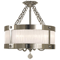 Angelique 5 Light 24 inch Polished Silver Semi-Flush Mount Ceiling Light