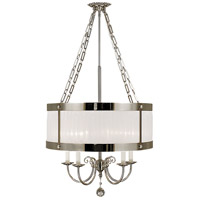 HA Framburg Angelique 4 Light Chandelier in Polished Silver 2174PS