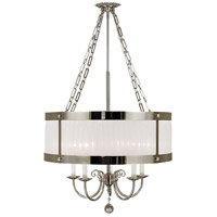 Angelique 5 Light 24 inch Polished Silver Chandelier Ceiling Light