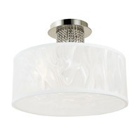 HA Framburg Cirrus 3 Light Semi-Flush Mount in Polished Silver 2182PS