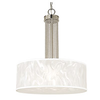 HA Framburg Cirrus 3 Light Semi-Flush Mount in Polished Silver 2183PS