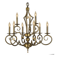 HA Framburg Black Forest 9 Light Dining Chandelier in Harvest Bronze 2219HB