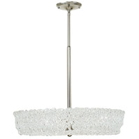 HA Framburg Brocatto 3 Light Chandelier in Polished Silver 2234PS photo thumbnail