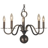 HA Framburg Jamestown 5 Light Chandelier in Siena Bronze 2245SBR