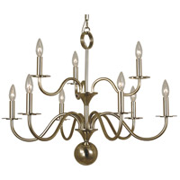 HA Framburg Jamestown 9 Light Chandelier in German Silver 2249GS