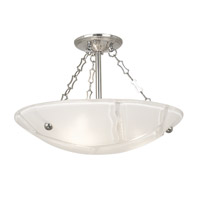 HA Framburg Veronique 3 Light Semi-Flush Mount in Polished Silver 2261PS
