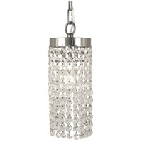 HA Framburg Princessa 1 Light Pendant in Polished Silver 2271PS