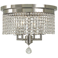Princessa 4 Light 15 inch Polished Silver Flush Mount Ceiling Light