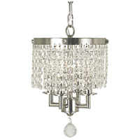 Princessa 4 Light 8 inch Polished Silver Mini Chandelier Ceiling Light