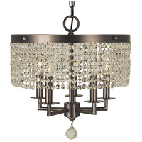 Princessa 5 Light 15 inch Siena Bronze Chandelier Ceiling Light in Sienna Bronze
