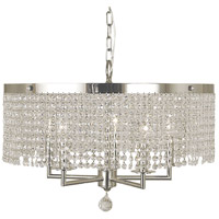 Princessa 5 Light 22 inch Polished Silver Chandelier Ceiling Light