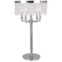 Princessa 28 inch 60 watt Polished Silver Table Lamp Portable Light
