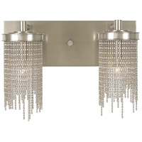Guinevere 2 Light 16 inch Polished Silver Sconce Wall Light