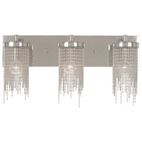 Arabesque 3 Light 22 inch Polished Silver Bath Light Wall Light