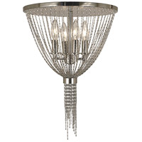 Guinevere 4 Light 14 inch Polished Silver Semi-Flush Mount Ceiling Light