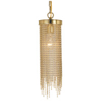 HA Framburg Arabesque 1 Light Pendant in Polished Brass 2300PB