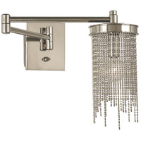 HA Framburg Arabesque 1 Light Bath Light in Polished Silver 2301PS