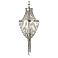 Arabesque 3 Light 8 inch Polished Brass Pendant Ceiling Light