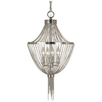 Arabesque 4 Light 13 inch Polished Silver Chandelier Ceiling Light
