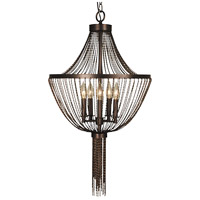 Arabesque 5 Light 18 inch Siena Bronze Chandelier Ceiling Light in Sienna Bronze