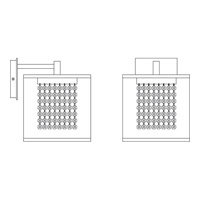 HA Framburg Chloe 1 Light Bath and Sconces in Polished Silver/White Mesh 2331PS/White Mesh