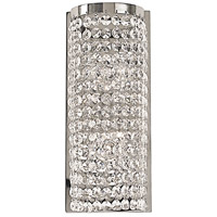Princessa 2 Light 5 inch Polished Silver Bath Light Wall Light
