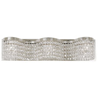 Princessa 3 Light 22 inch Polished Silver Bath Light Wall Light