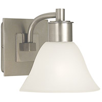 HA Framburg Mercer 1 Light Bath Light in Satin Pewter w/ Polished Nickel Accents 2351SP/PN