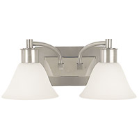HA Framburg Mercer 2 Light Bath Light in Satin Pewter w/ Polished Nickel Accents 2352SP/PN