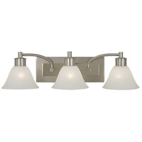 HA Framburg Mercer 3 Light Bath Light in Satin Pewter w/ Polished Nickel Accents 2353SP/PN