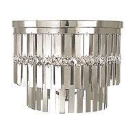 HA Framburg Nathaniel 5 Light Semi-Flush Mount in Polished Silver 2365PS