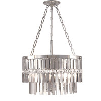 HA Framburg Nathaniel 5 Light Chandelier in Polished Silver 2367PS