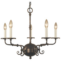 HA Framburg Jamestown 5 Light Chandelier in Siena Bronze 2375SBR