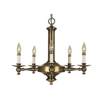 HA Framburg Sheraton 5 Light Bath Light in Antique Brass 2405AB