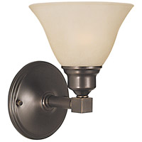 HA Framburg Taylor 1 Light Bath Light in Siena Bronze/Champagne Marble 2421SBR/CM