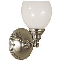 Sheraton 1 Light 7 inch Polished Silver Bath Light Wall Light