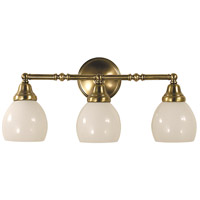 Sheraton 3 Light 21 inch Antique Brass Bath Light Wall Light