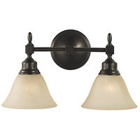 Taylor 2 Light 16 inch Mahogany Bronze Sconce Wall Light in Champagne Marble