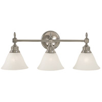 HA Framburg Taylor 3 Light Bath Light in Polished Nickel/White Marble 2433PN/WH