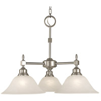 Taylor 3 Light 25 inch Brushed Nickel Dinette Chandelier Ceiling Light in White Marble